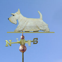 Scottish Terrier Hand Carved Hand Painted Basswood Dog Weathervane Wheaten