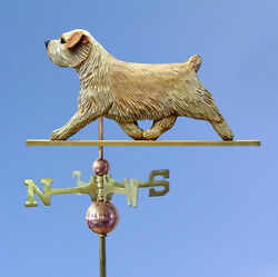 Norfolk Terrier Hand Carved Hand Painted Basswood Dog Weathervane Wheaten