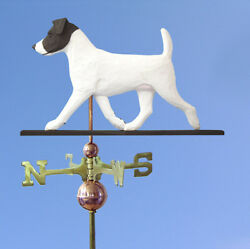 Jack Russell Terrier Hand Carved Hand Painted Basswood Dog Weathervane Black...