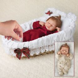 Emmy S Christmas Ensemble Baby Doll With Bassinet Bradford Exchange