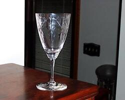 Heisey 3350 Wabash 10 Ounce Goblet With Heisey 883 Royal York Cutting