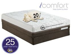 Serta Icomfort Directions King Size Acumen Set W/ 2 Matching Foundations New