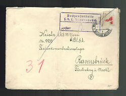 1940s Walasske Bm Germany Cover To Ravensbruck Concentration Camp Krista Panyova
