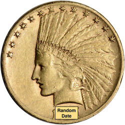 US Gold $10 Indian Head Eagle XF Condition Random Date
