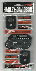 Harley Davidson Leather Pockets 3d Stickers Motorcycle