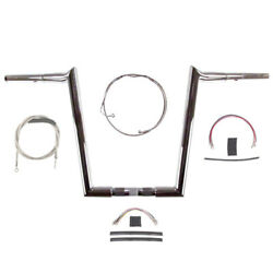 1 1/4 Chrome Wild 1 14 Hooked Bar Kit 2008-2013 Harley Road Glide King W/abs