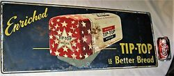 Antique American Usa Tip Top Bread Country Store Bakery Kitchen Advertising Sign