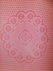 Vtg Cottage Shabby Chic Pink Floral Chenille Bedspread 98x109 Full Cutter Fabric