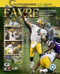 Brett Favre Packers Record 421 Td Passes Licensed Picture Poster 8x10 Photo
