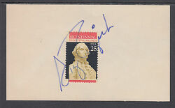 Sig Rogich, Assistant To President Reagan, Signed Executive Branch Stamp On Card