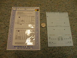 Microscale Decals 87-800 Santa Fe Quality Freight Box Cars 1990+ K88