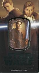 Star Wars Attack Of The Clones 3d Silver [25] Patch Relic Mp-2 Anakin Skywalker