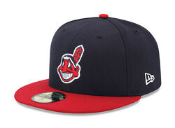 New Era 59fifty Mlb Cap Cleveland Indians 2018 On Field Fitted Home Hat Navy