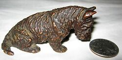 ANTIQUE GORHAM BRONZE KIRMSE SCOTTISH TERRIER DOG PAPERWEIGHT STATUE SCULPTURE