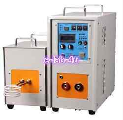 25KW 30-80KHz Dual Station High Frequency Induction Heater Furnace LH-25AB e