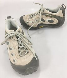 Merrell Women 7 Hiking Shoes Chameleon Wrap Ventilator Gray Mint Gore-Tex Vibram