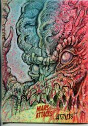 Mars Attacks Invasion Sketch Card By Mark Finneral