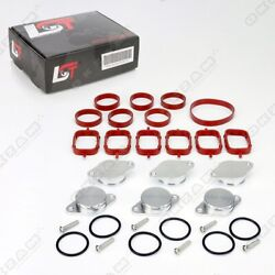 32mm ALUMINIUM SWIRL FLAP REPLACEMENT SET +O-RING + TORX SCREW FOR BMW 3 5 SERIE