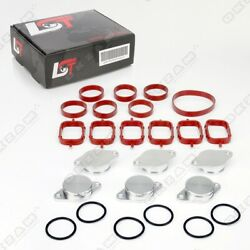 32mm ALUMINIUM SWIRL FLAP REPLACEMENT SET + O-RING FOR BMW X3 X5 NEW