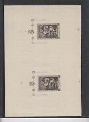 Croatia Expo 1943 Rare Imperforated. Sheet Pair,mnh ,small Thins On Gum