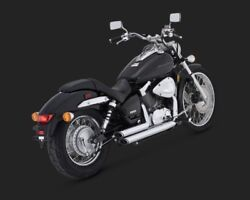 Vance And Hines 18419 Chrome Shortshots Staggered Exhaust For Honda Vt750c Shadow