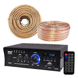 Pyle Amp Receiver Aux Cd Led Display Enrock Audio 18 Awg 100 Feet Speaker Wire
