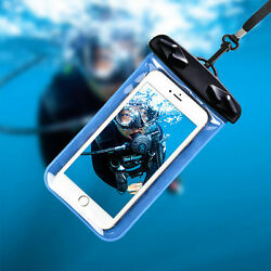 Beach waterproof cover phone pouch drift Cellphone bag swimming hang rope Hot C $4.99