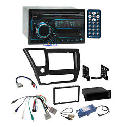 Planet Audio USB Bluetooth Stereo Dash Kit Amp Harness for 2013-15 Honda Civic