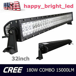 32inch 180w Led Light Bar Spot Flood Combo Boat Ford Offroad Truck Ute 30in