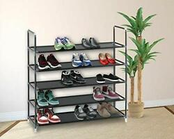 5 10 Tier Shoe Rack Wall Tower Cabinet Storage Organizer Home Holder Shelf