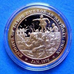 1878 Knights Of Labor Emerge As National Union Franklin Mint Solid Bronze Medal