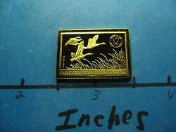 Blue Geese 1955-1956 Migratory Stamp Commemorative Mini Silver Gold Bar B
