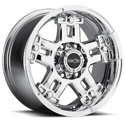 22x9.5 Vision 394 Warlord 8x180 Et18 Chrome Rims Set Of 4