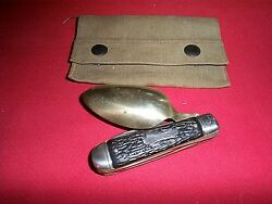 Three Piece Old Imperial Colonial Folding Ho-bo Style Pocket Knives Knife Used