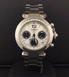 Pasha C Chronograph 35mm Stainless Steel Silver Dial Automatic W31048m7