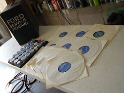 Oem Ford 1973 Dealers Training Materials Films Records Box Truck Mustang Torino