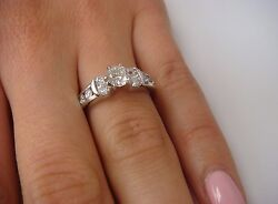 The Leo Bridal Collection Engagement Ring 0.99 Carat T.w. Platinum And 14k Gold
