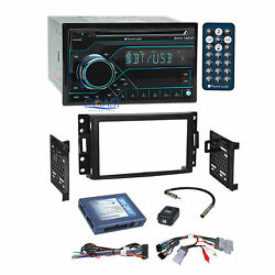 Planet Audio CD Bluetooth Stereo Dash Kit Bose Harness for Chevy Pontiac Saturn