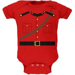 Halloween Canadian Mountie Police Costume Soft Baby One Piece $16.95