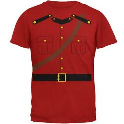 Halloween Canadian Mountie Police Costume Mens Soft T Shirt $20.00