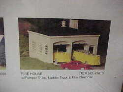 Plasticville----firehouse With Vehicles