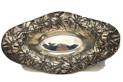 Unger Sterling Poppies Repousse Bowl 12-1/2 Long