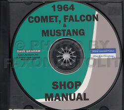 1964 Ford Shop Manual CD Mustang Ranchero Falcon Repair Service Futura Sprint