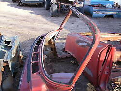 1962 62 Ford Galaxie 500 Convertible Windshield Frame Xl 390 406 Glass Housing