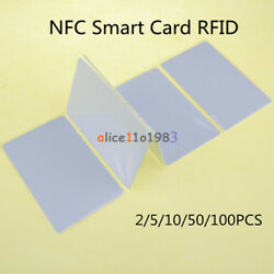 2 5 10 50PCS NFC Smart card tags 1k S50 IC 13.56MHz Read Write RFID For Arduino $3.23