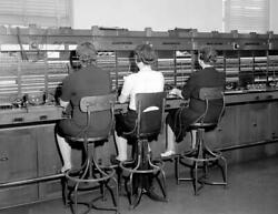 1940 Telephone Switchboard Operators NC Vintage Photograph 8.5