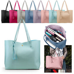Women Synthetic Leather Handbag Shoulder Ladies Purse Messenger Satchel Tote Bag $12.99