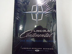 1965 FORD LINCOLN CONTINENTAL Maintenance Service Repair Shop Manual NEW 1965