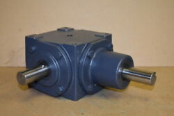 Bevel Gear Drive, Right Angle, Metric, 11, Up To 28hp, 165m, Hub City
