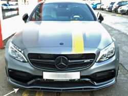 Mercedes C205 Amg C63 S Edition 1 Coupe Cabriolet Front Spoiler Set Gloss Black